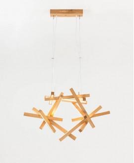 Wooden chandelier Interstellar