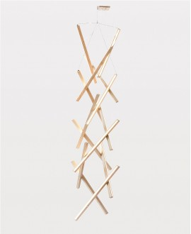 Wooden chandelier DNA