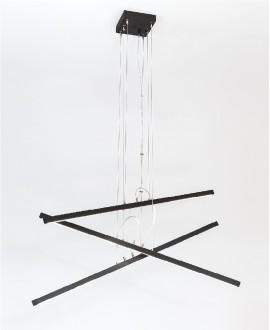 Wooden chandelier CASCADE