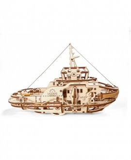 """Wooden 3D puzzle """"Tugboat"""""""