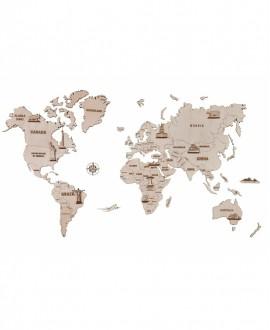 """Дерев'яний пазл """"Карта світу"""""""