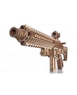 """Wooden 3D puzzle """"Assault rifle AR-T"""""""