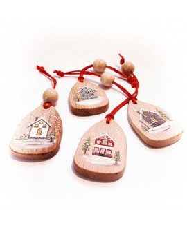 "Christmas tree toys ""Winter houses"""