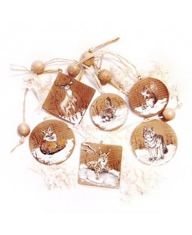 "Christmas pendants ""Winter animals"""