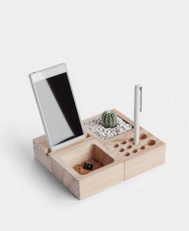 Wooden desk organizer BBCube Small