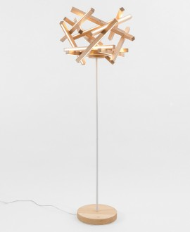 Wooden floor lamp TORUS