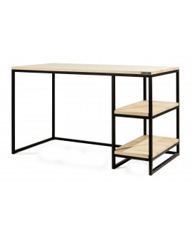 Desk with 2 shelves 1200