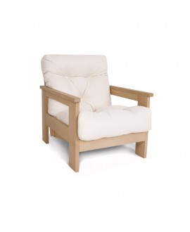 Wooden framed armchair MEXICO
