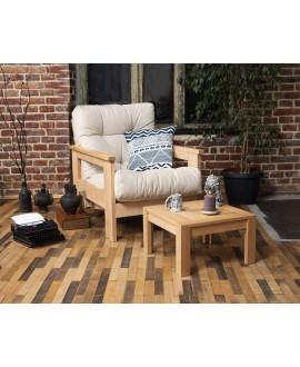Деревянное мягкое кресло MEXICO
