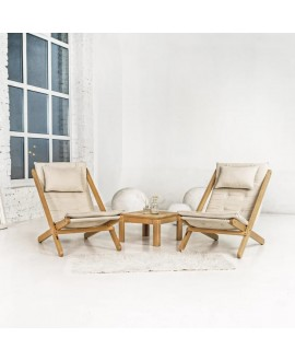 Wooden deck chair ALLEGRO