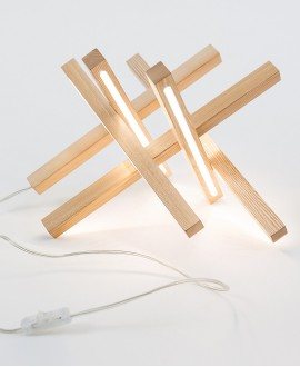 Деревянная лампа Stellar