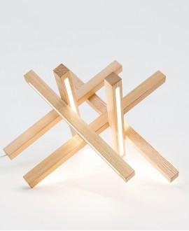 Дерев'яна лампа Stellar