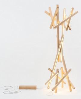 Wooden floor lamp GROOT
