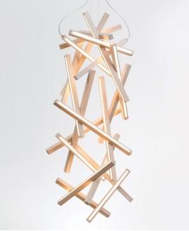 Wooden chandelier Genesis