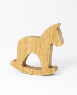 Wooden Horse Figurine