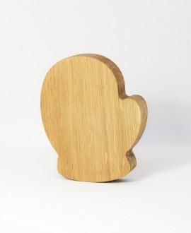 Wooden Mitten Figurine