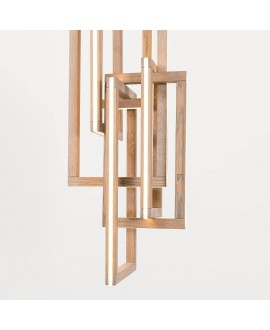 Wooden chandelier INTERLACEMENT