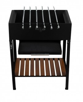 Stationary brazier with 6 skewers