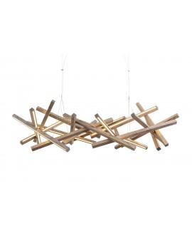 Wooden chandelier Infinity