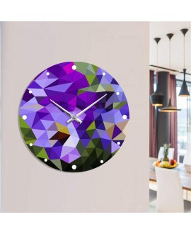 Wall clock Moku Abstract