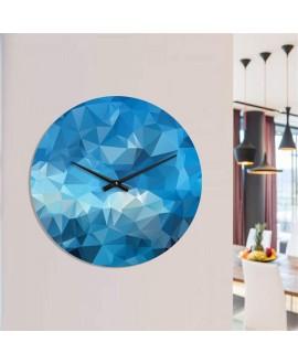 "Wall clock ""Abstract Blue"""