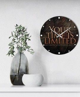 """Wall clock """"Time is limited"""""""
