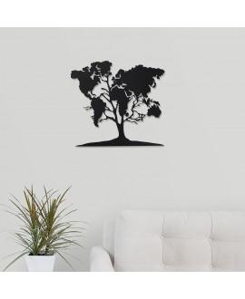 """Дерев'яна картина """"Дерево карта світу"""""""