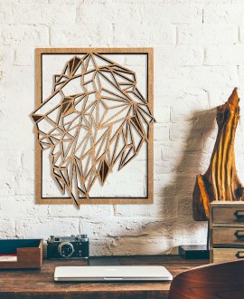 "Wooden picture ""Lion"""