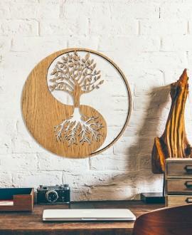 """Дерев'яна картина """"Інь і Янь"""""""