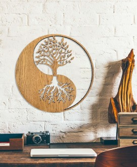 "Wooden picture ""Yin and Yang"""