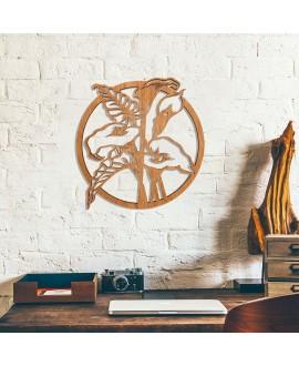 """Wooden picture """"Bog arum"""""""
