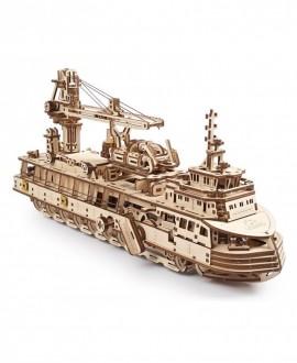 """Деревянный 3D пазл """"Научно-исследовательское судно"""""""