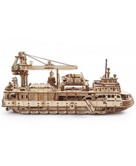 """Дерев'яний 3D пазл """"Науково-дослідне судно"""""""