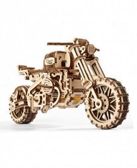 """Деревянный 3D пазл """"Мотоцикл Scrambler UGR-10 с коляской"""""""