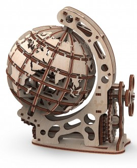 """Wooden 3D puzzle """"Globe S"""" Mr.Playwood"""