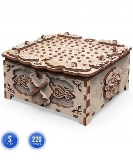 """Wooden 3D puzzle """"Floral fantasy"""""""