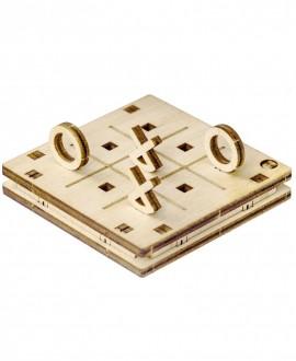 """Wooden 3D puzzle """"Tic-Tac-Toe 2"""""""