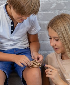 """Wooden 3D puzzle """"Chess"""""""