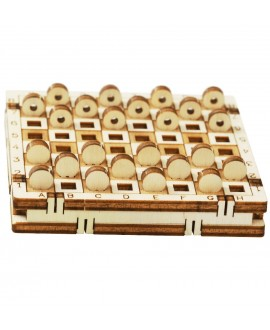 """Wooden 3D puzzle """"Checkers"""""""