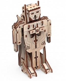 """Дерев'яний 3D пазл """"Робот-літак"""""""