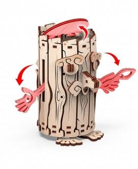 """Wooden 3D puzzle Forest Spirit """"Moneybox"""""""