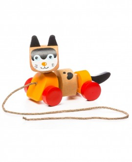 """Wooden toy """"Cat pull toy"""""""