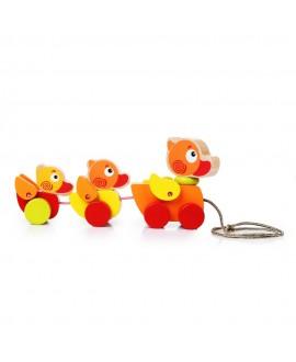 "Wooden toy ""Wandering ducklings"""