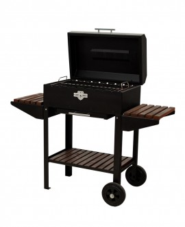 Brazier grill with 8 skewers