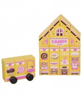 """Wooden constructor """"Candy shop"""""""