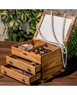 Women's jewelry box with mirror