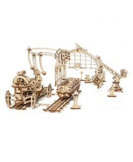 """Wooden 3D puzzle """"Rail Mounted Manipulator"""""""
