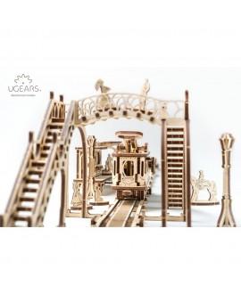 """Wooden 3D puzzle """"Tram Line"""""""