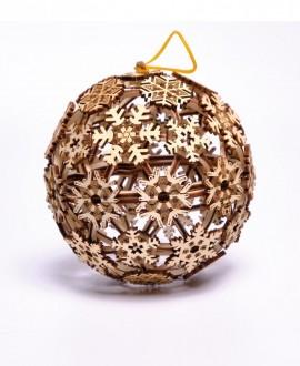 """Дерев'яний 3D пазл """"Різдвяна куля"""""""
