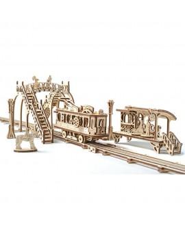 """Дерев'яний 3D пазл """"Трамвайна лінія"""""""